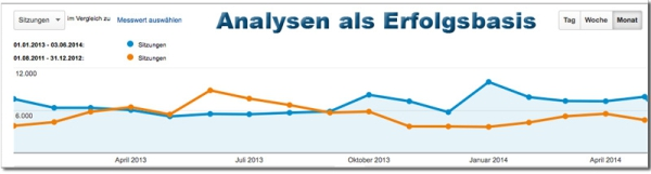 Grafik Google-Analytics zur Analyse